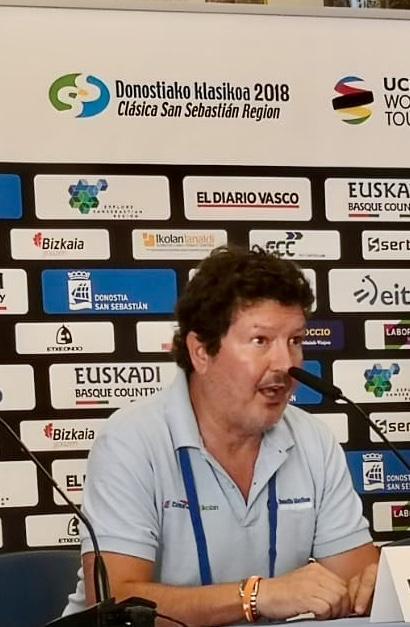 Juanjo Gonzalo en la reunión de seguridad de la clásica del año pasado